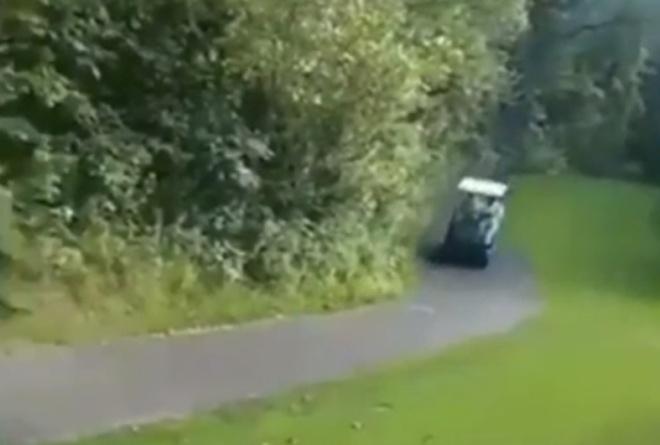 Гонять на гольфкаре - плохая идея
