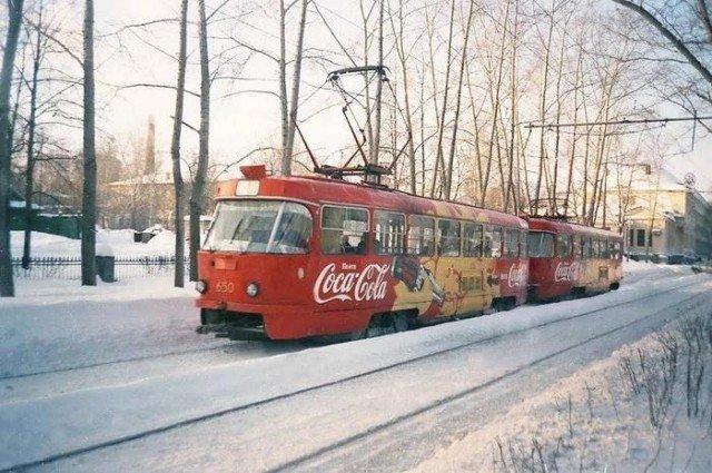 """Трамваи """"Coca-Cola"""""""