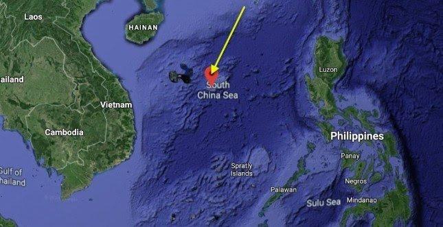 В Южно-Китайском море произошел мощный взрыв с выбросом радиации.