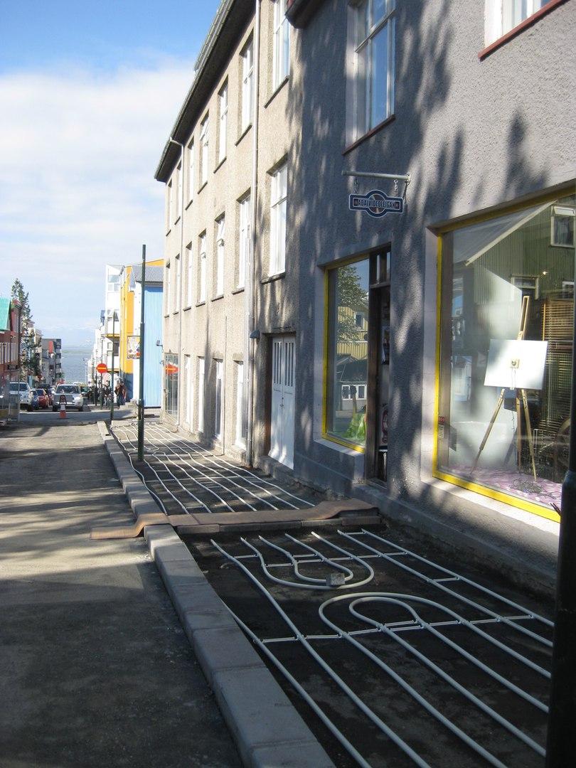 Как у них: в Исландии строят тротуары с подогревом