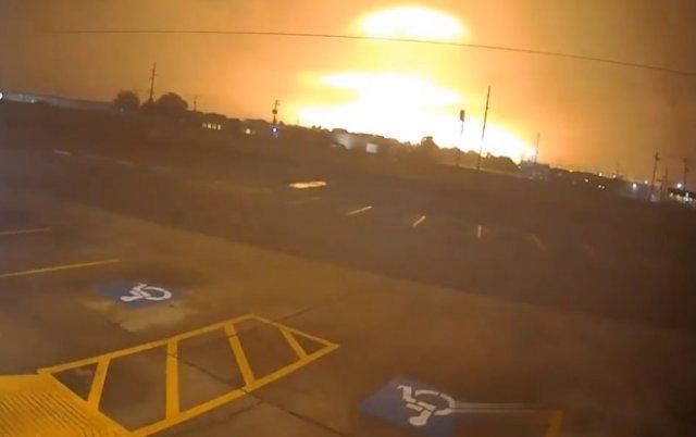 Вот так выглядит взрыв на химическом заводе