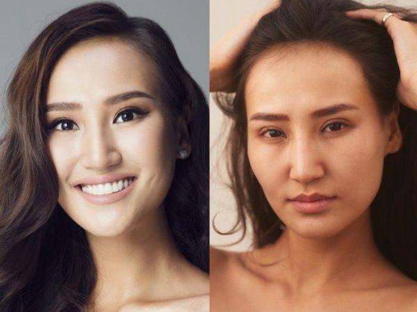 Участницы «Мисс Вселенная» с макияжем и без