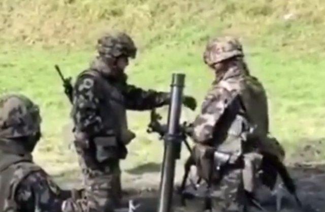 Не все бойцы армии НАТО умеют пользоваться минометом