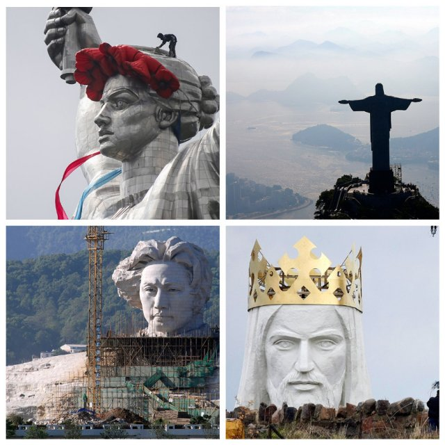 Гигантские памятники в разных уголках мира