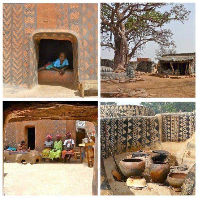 Африканская деревня, в которой каждый дом произведение искусства