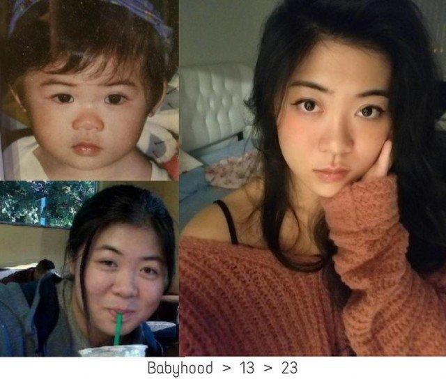Люди, с подросткового возраста изменившиеся до неузнаваемости