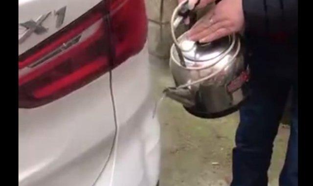 Починка автомобиля кипятком