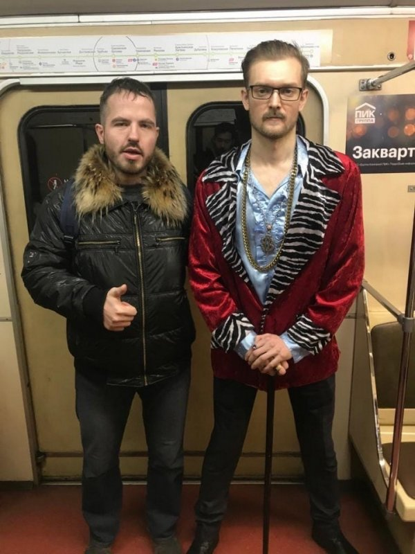 Модные обитатели метрополитена