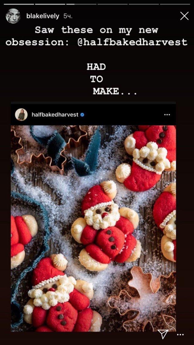 Актриса Блейк Лайвли приготовила рождественские печенья: и это выглядит ужасно