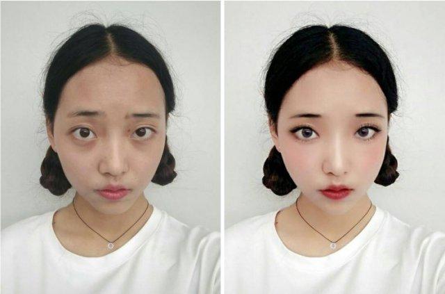 Азиатки начали использовать технологии вместо макияжа