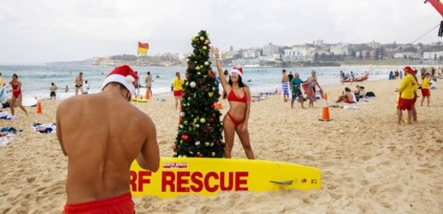 Рождество на пляже Сиднея