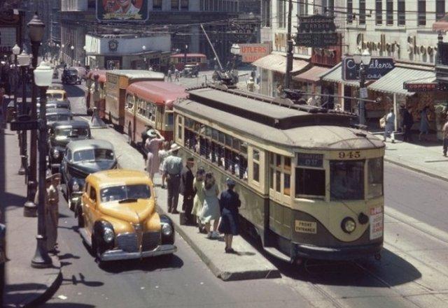 Как выглядели известные города в 1944 году