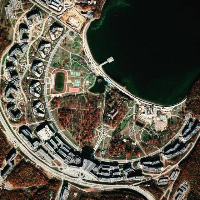 Занимательные снимки с Google Maps