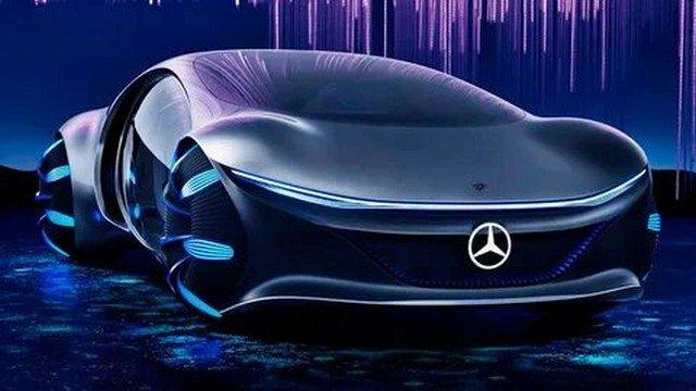 Футуристический Mercedes Vision AVTR заметили на дорогах Лас-Вегаса