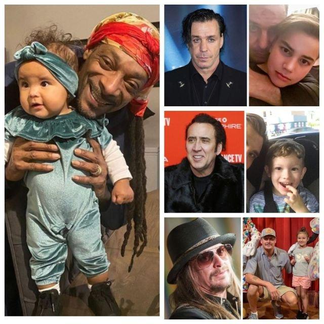 Крутые звездные отцы, которые превратились в милых дедушек (11 фото)
