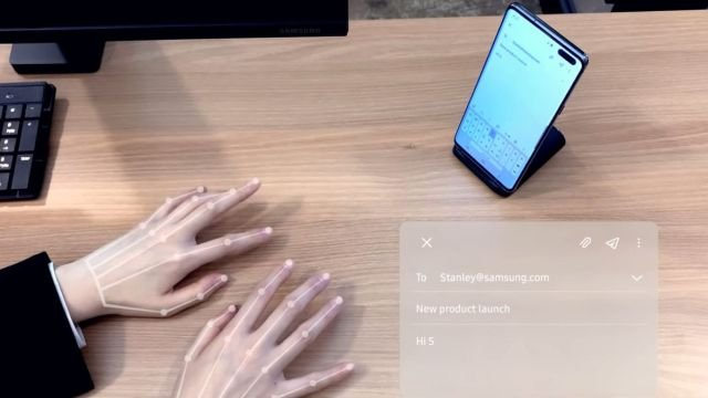 Невидимая клавиатура Samsung Selfie Type