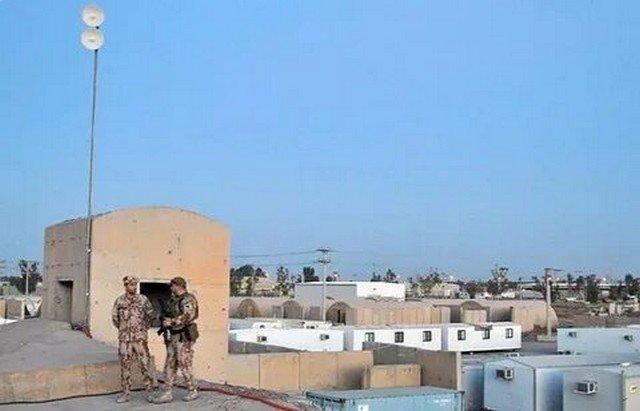 По военной базе США в Ираке нанесли ракетный удар