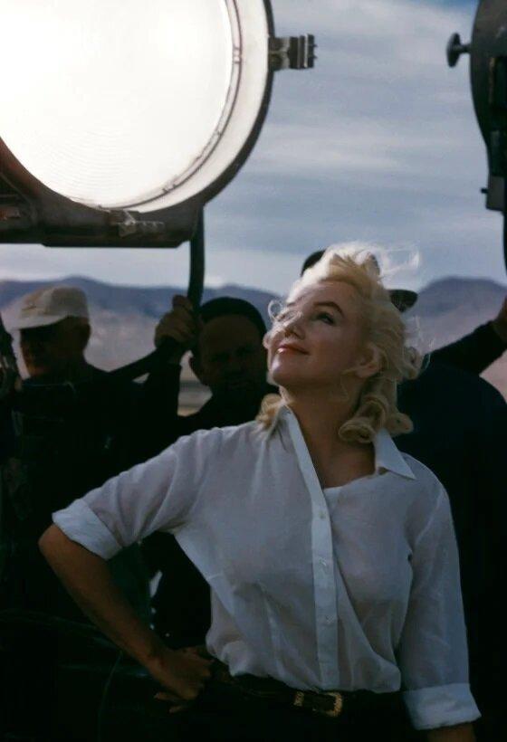 Мерилин Монро на съемках своего последнего фильма