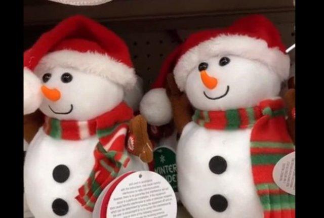 Милые снеговики, способные в темноте напугать любого