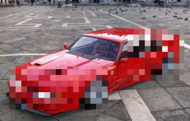 Каким было бы совмещение автомобилей Ferrari F40 и Ford Mustang Fox Body