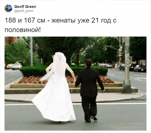 Тред в Твиттере: рост любви не помеха