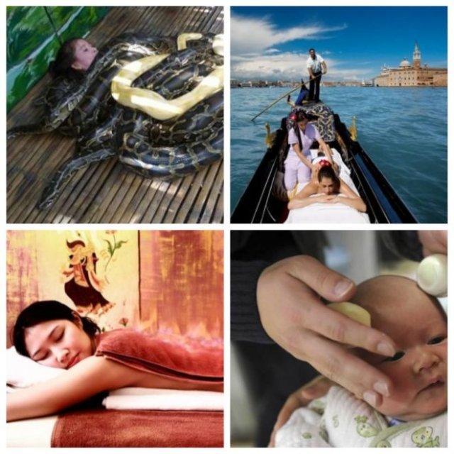 Самые необычные виды массажа (10 фото)