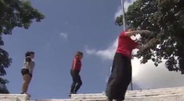 Женский паркур в Бразилии - смешно и стыдно