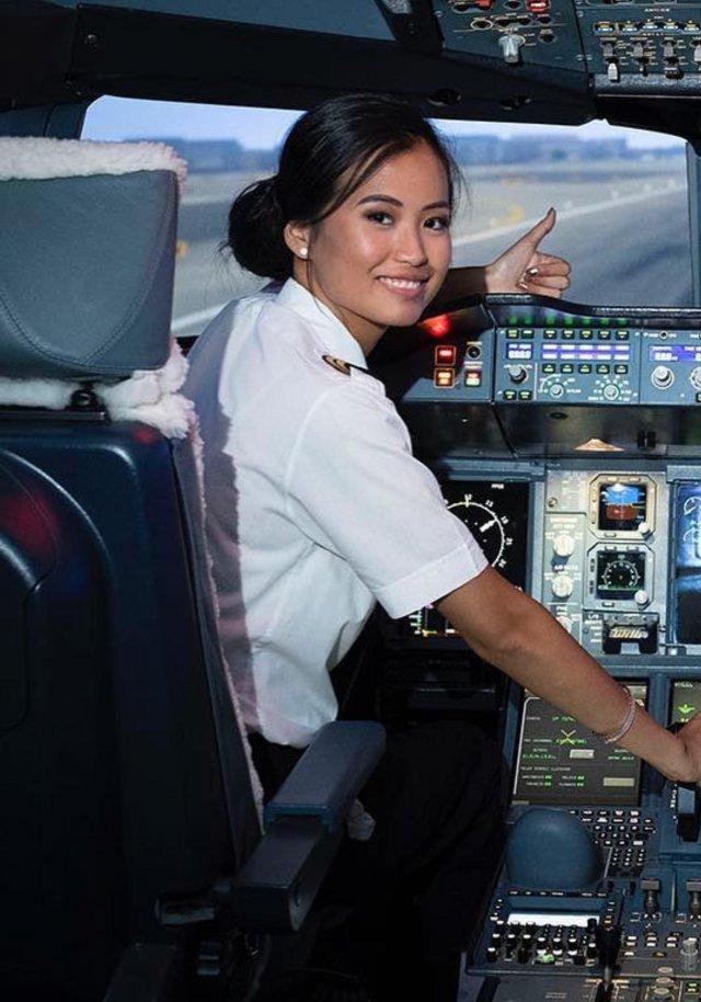 «Мисс Бельгия» Анджелина Флор Пуа сменила профессию и стала пилотом