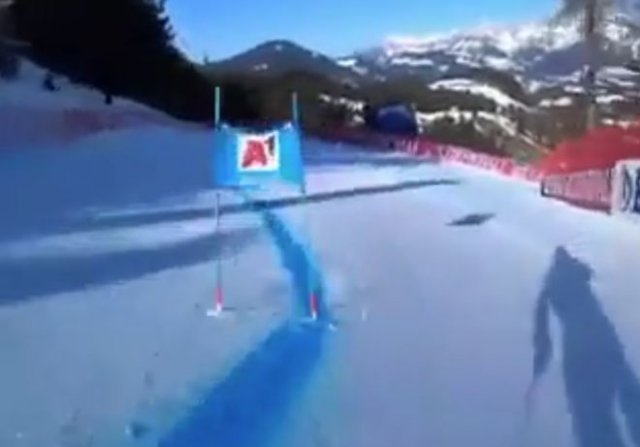 Профессиональный лыжник показал, как выглядит скоростной спуск от первого лица