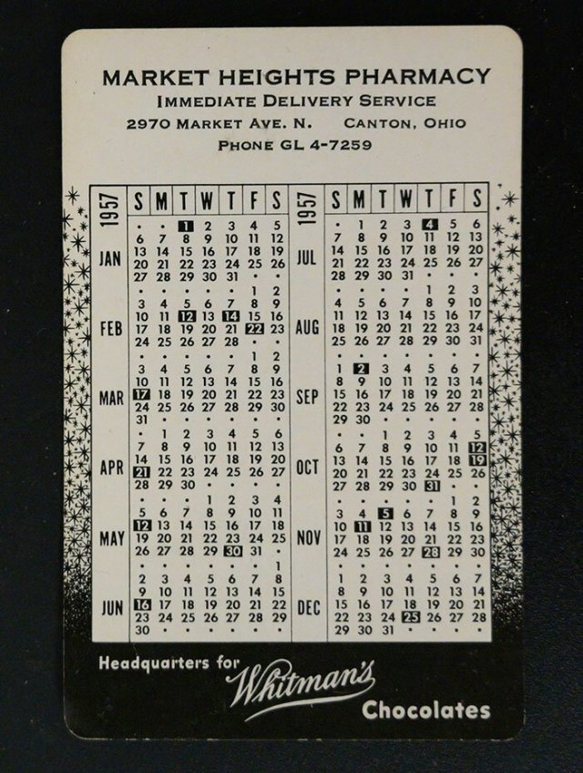 Календарик с рекламой аптеки