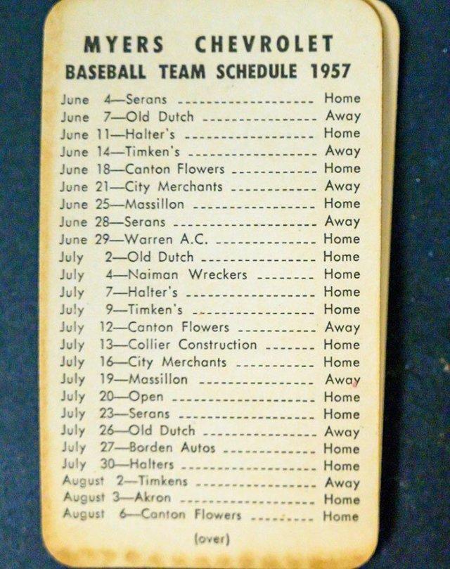 Расписание игр бейсбольной команды