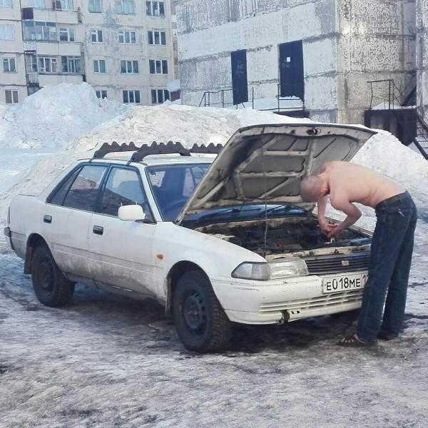 Ремонт автомобиля зимой