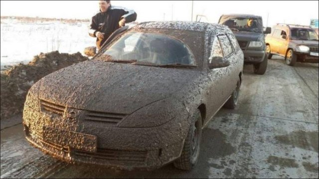 Грязный автомобиль