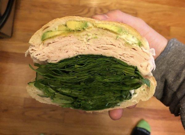 Сэндвич с капустой