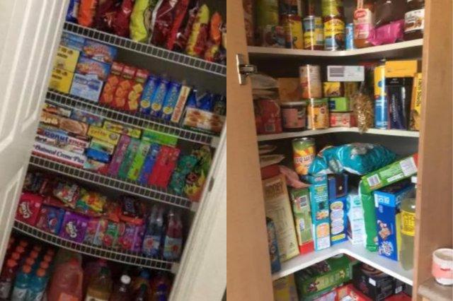 Люди покупают еду из-за коронавируса