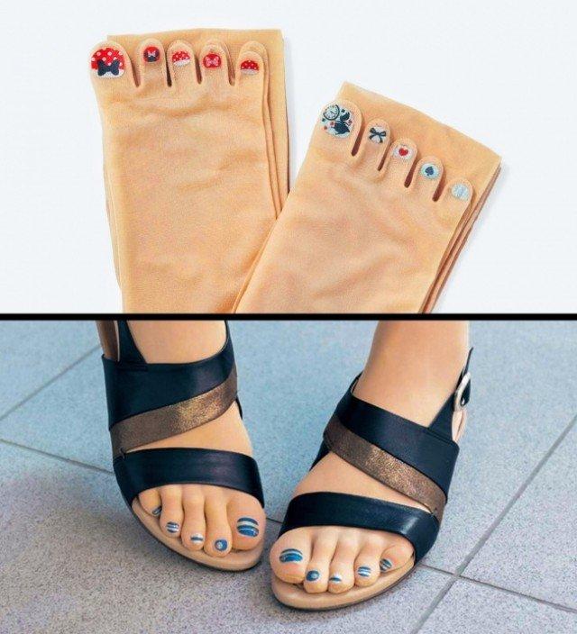 носки с ногтями