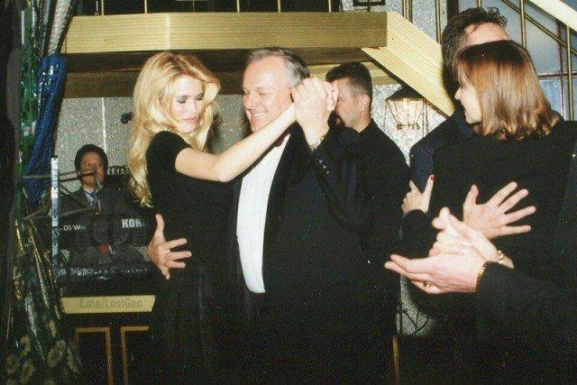 Анатолий Собчак и Клаудия Шифер, Санкт-Петербур, 1996 год