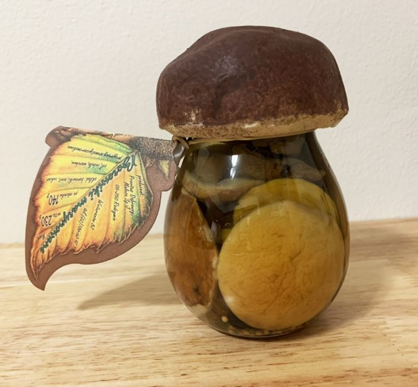 Банка в форме гриба