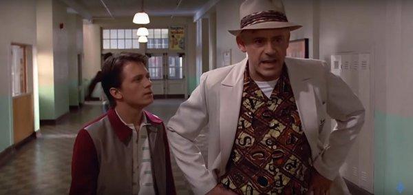 Роберт Дауни младший и Том Холланд в роли Дока и Марти