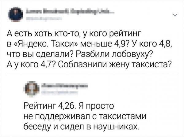 Рейтинг пассажиров Яндекс.Такси