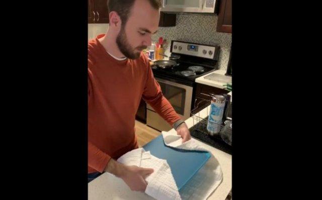 Попытался сам испечь торт на праздник