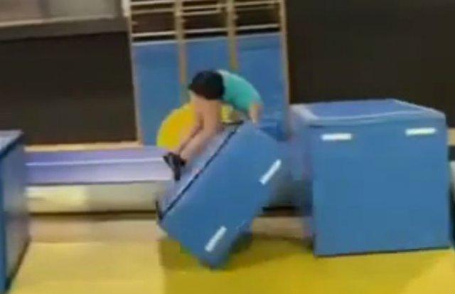 Эпичный прыжок с красивым финалом