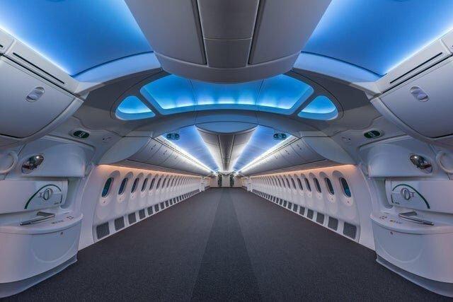 Пустой Боинг 787