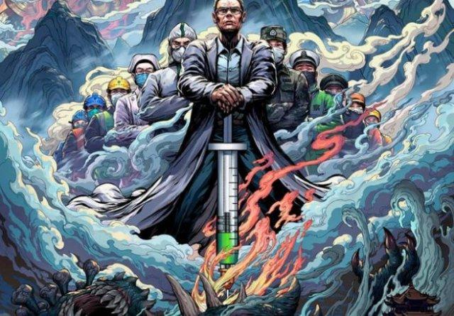 Художники создают иллюстрации, отражающие героическую борьбу врачей из КНР с коронавирусом