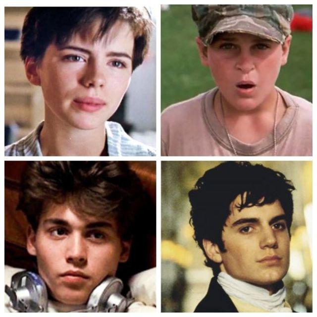 Как выглядели популярные актеры в своем первом фильме (10 фото)