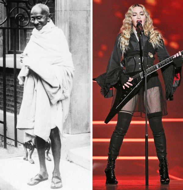 Махатма Ганди и Мадонна