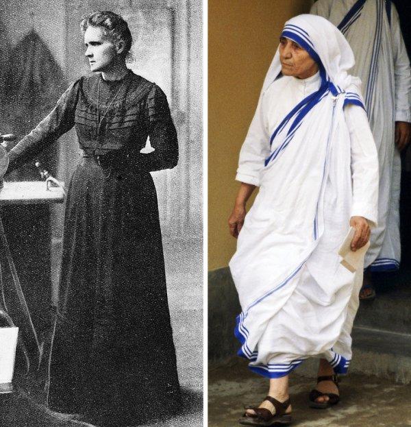 Мария Склодовская-Кюри и мать Тереза