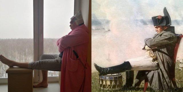 Россияне массово повторяют известные картины