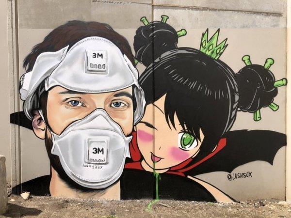 Граффити от стрит-арт художника lushsux
