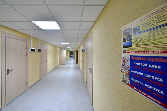 Палаты новой инфекционной больницы в Москве